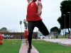 Bakersfield College's Franklin Simmons leaps for distance in the long jump event on March 17 at the Bakersfield Relays in Memorial Stadium. (Gregory D. Cook / Renegade Rip)
