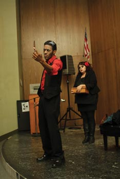 Students dance, sing and quote in SGA-sponsored Black History Month show