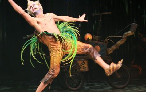 Acrobats perform in Bakersfield