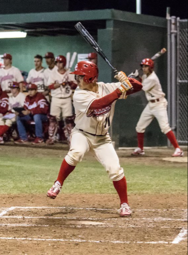 Sophomore outfielder Yukoh Saito swings against El Camino College Feb. 11.