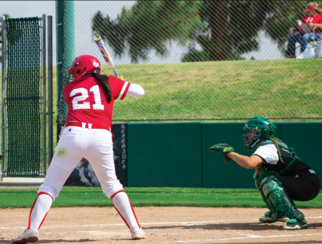 Alexis+Solis+on+the+home+plate+ready+to+swing+on+March+11.