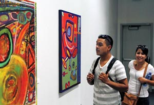 Art exhibit on campus showcases unique art