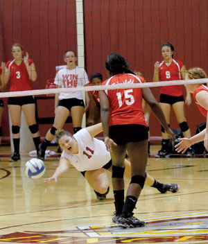 Volleyball sees early exit as BC's lone playoff team
