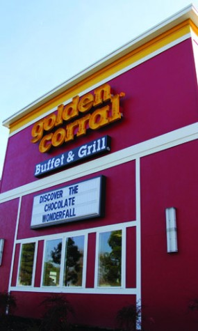 Golden Corral busy, but good and cheap