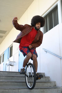 Unicycling up and down the BC campus
