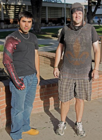 Students create chainmail with updated Medieval hobby