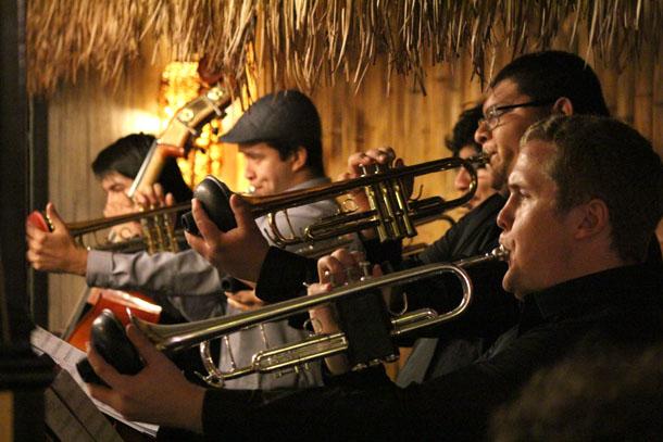 BC jazz ensemble plays a local gig