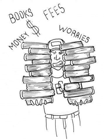 Heavy books, heavy prices, bring heavy worries and lighter wallets