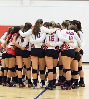 Volleyball's hot start cools off as they drop two straight in own tournament