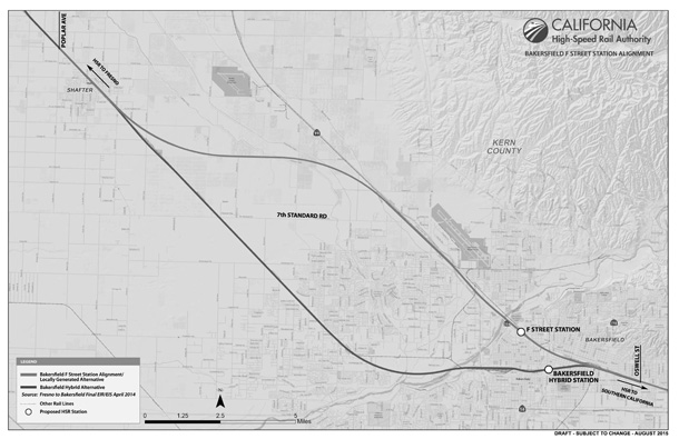 New alignment proposal for high-speed rail train