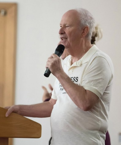 """Former BC professor Chuck Wall speaks about his continued """"Random Acts of Kindness"""" campaign."""