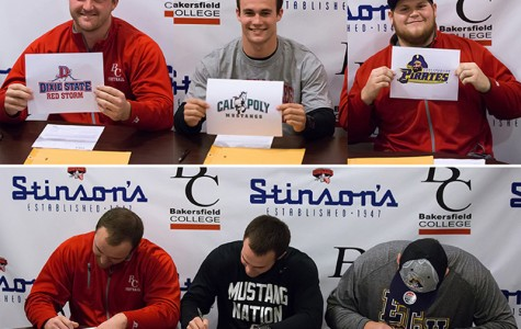 Three Renegade football players sign letters of intent
