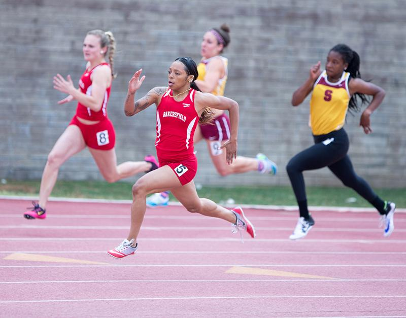 Saunders takes first in three events