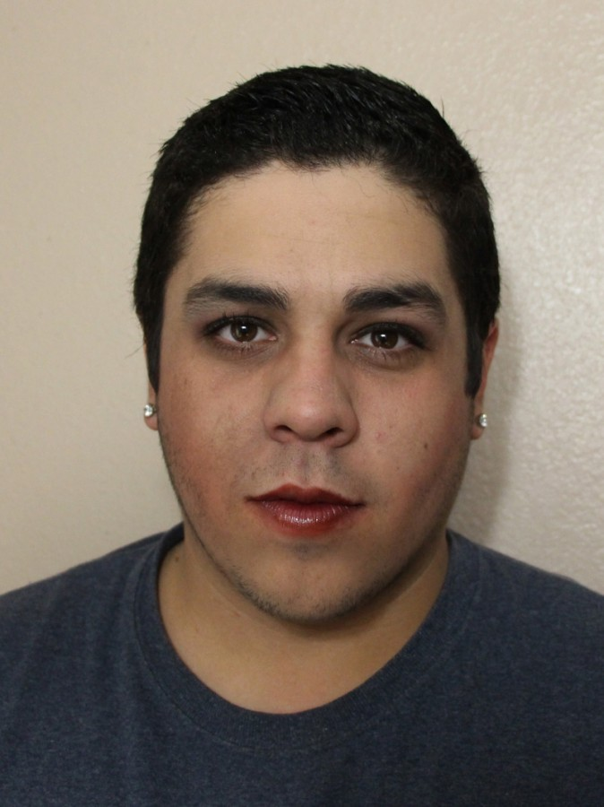 Man tries to apply makeup