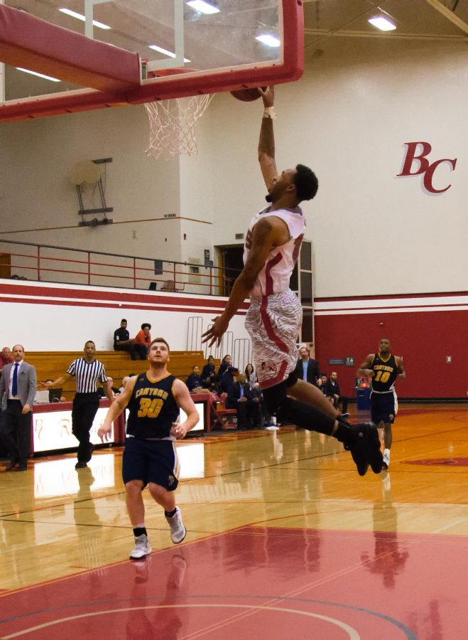 BC+freshman+guard+Jamar+Hammonds+converts+the+game-winning+dunk+vs.+College+of+the++Canyons+on+Feb.+15