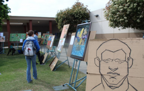 Pop-up art show from students