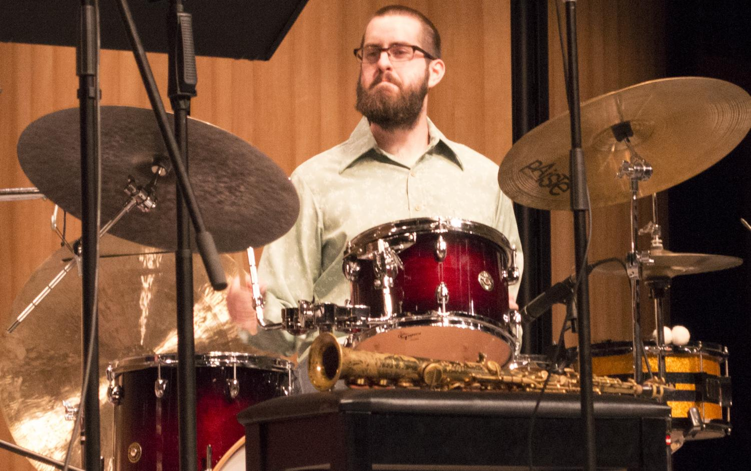 Bakersfield College alumnus Andrew Morgan plays drums on an orginal piece performed by the Andrew Morgan Quartet.