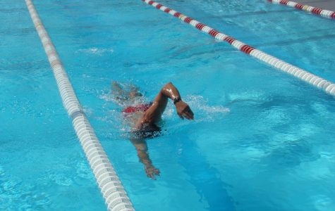 The Bakersfield College swim team holds a six hour swim relay with free lessons