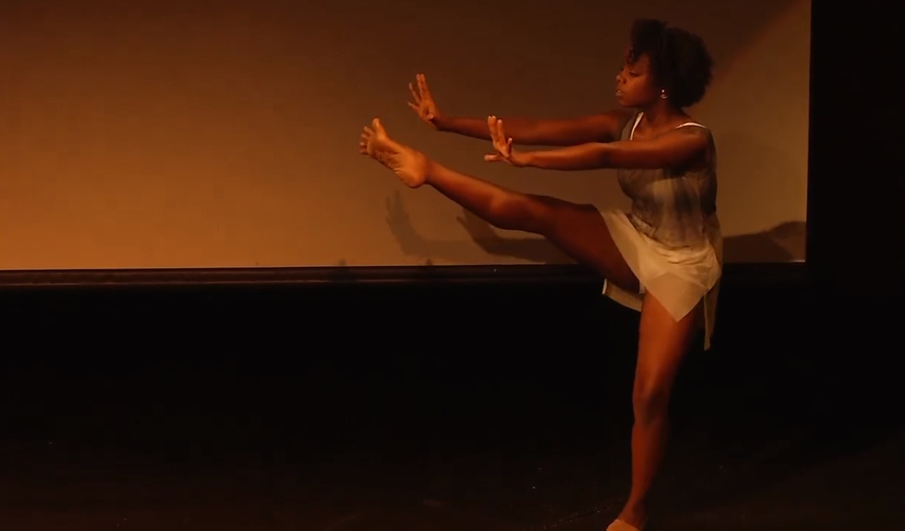 Dancer Jordan Nata'e performs at the TEDx conference.