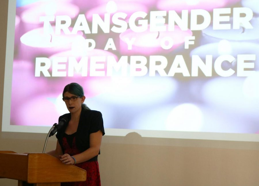 Shani+December+Smith+speaking+at+the+Transgender+Day+of+Remembrance+event+at+BC%2C+in+honor+of+transgender+individuals+who%E2%80%99ve+lost+their+lives.+