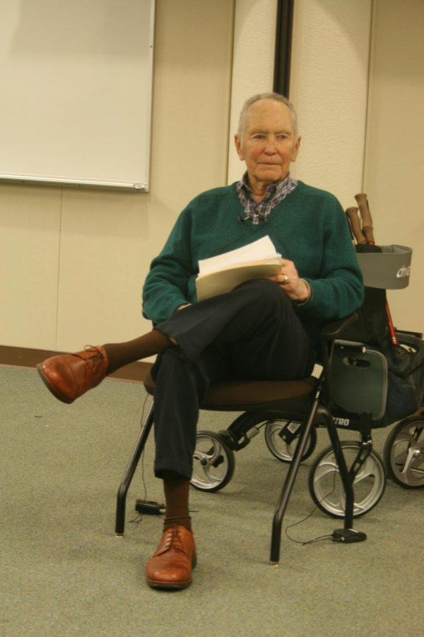 Gerald Haslam during his Nov. 30 at Bakersfield College