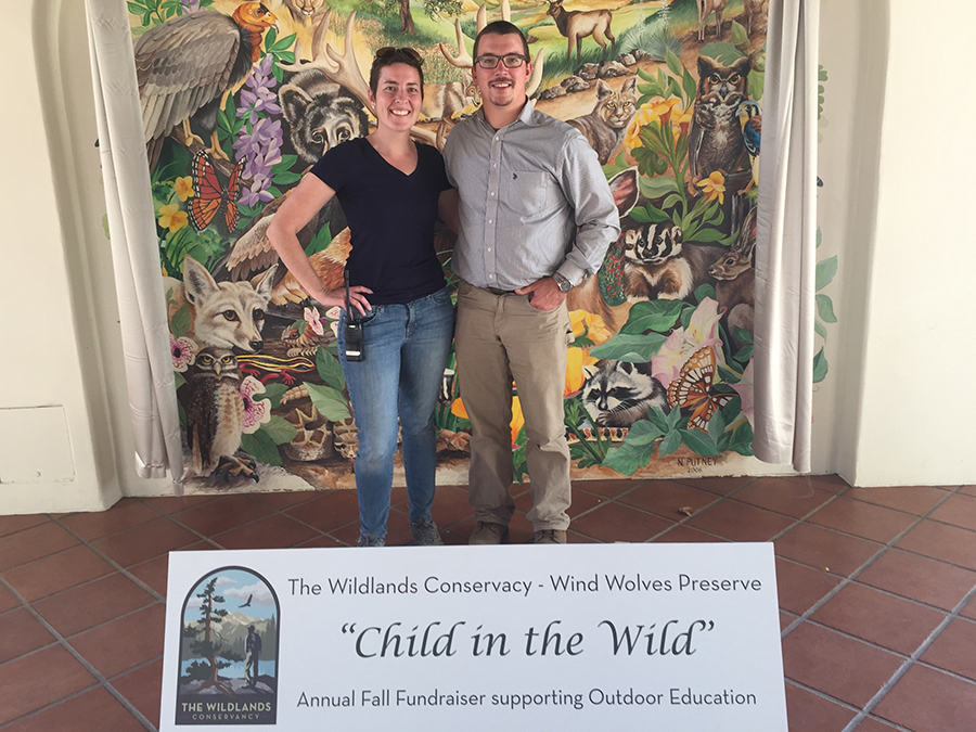 Left – Melissa Dabulamanzi (Education Director) and right – Landon Peppel (Director of Wind Wolves) posing for a photo.