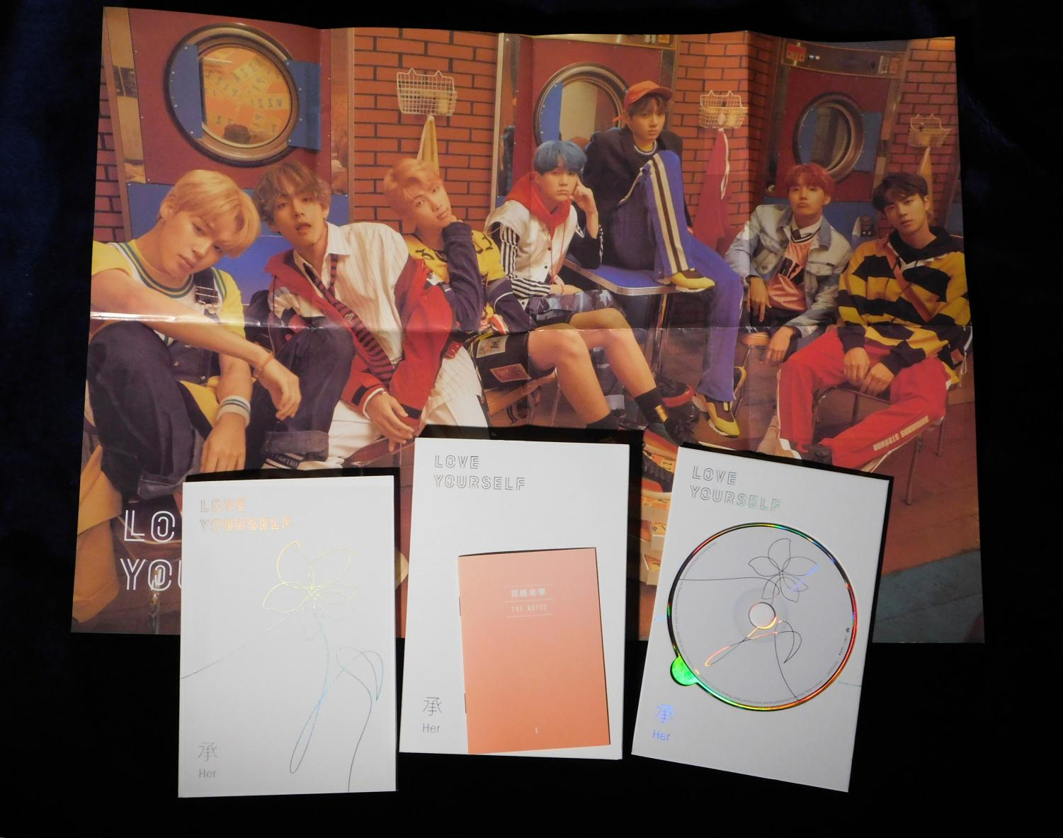 Love Yourself: The physical copy comes with a poster and photo album with two hidden tracks.