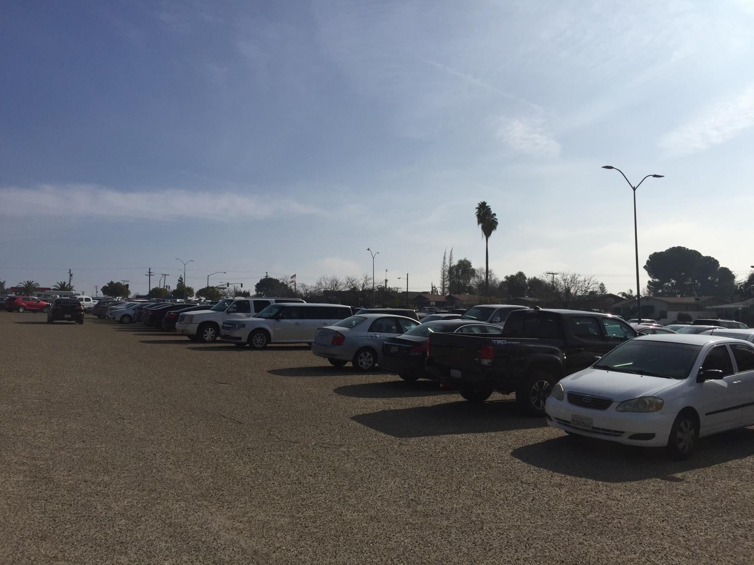 PHOTO 1: BC'S southeast parking lot near the football stadium is almost to full capacity by 11 a.m.