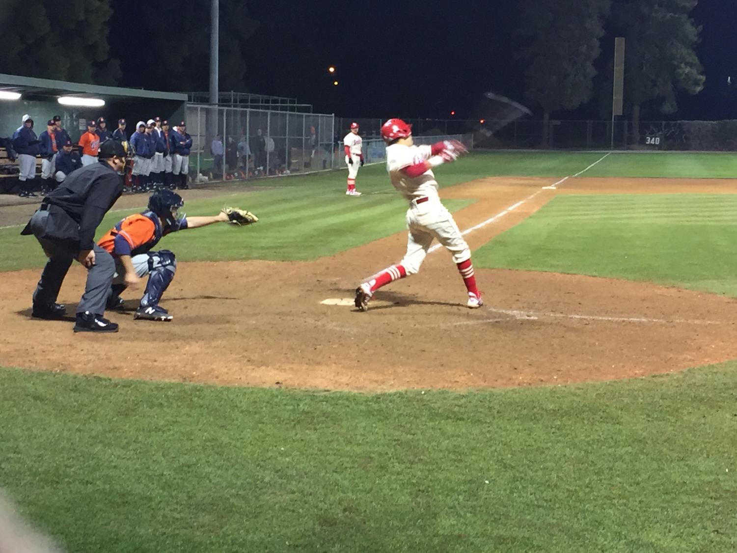 Brycin Hernandez, Outfielder, hits a pop-up to short stop to make the third out in the 7th inning