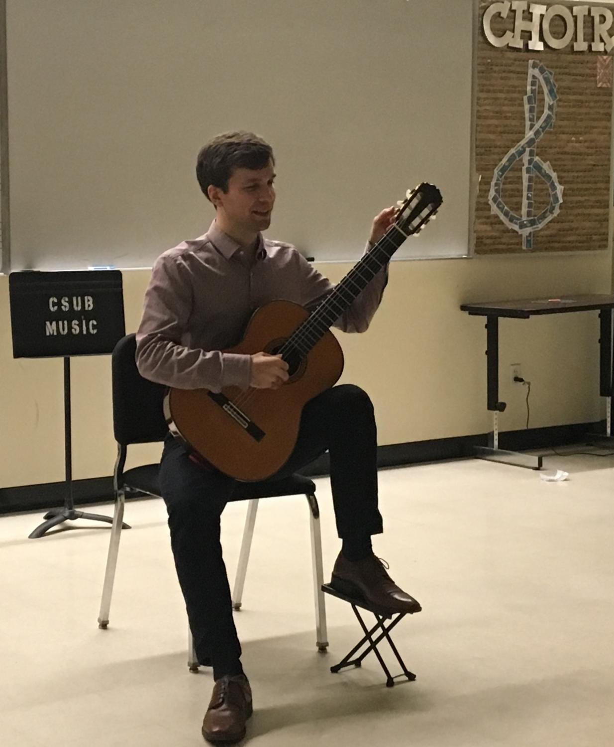 Cameron O'Connor performed for the Music and Theatre Department at Cal State Bakersfield, on Thursday Feb. 15th.