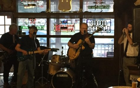 Musicians get together at The Kernville Saloon for a blues jam session