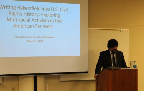 Oliver A. Rosales speaks at Bakersfield College
