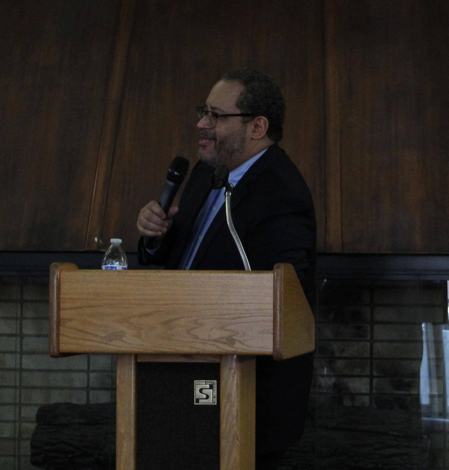 Dr. Michael Eric Dyson discussing his experience as an author.