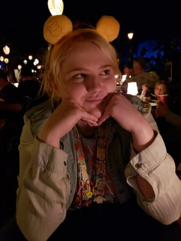 Miranda Defoor smiles in the Blue Bayou restaurant