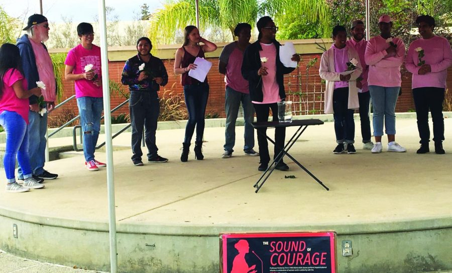 The theatre students perform tributes in celebration of women's month and for the #MeToo movement.