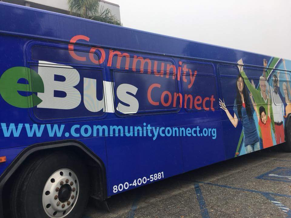 CAL EITC E-Bus where volunteers help locals file their taxes for free.