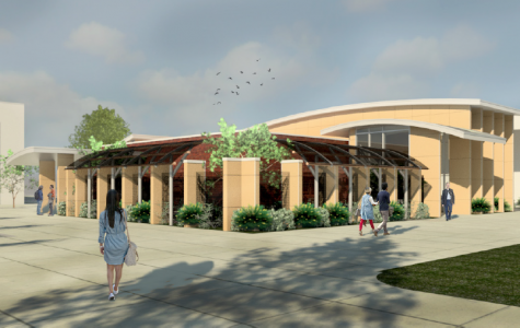 Illustration of the Veteran's Center that will be located by the Forum and LA building and completed in 2020. also known as the Assessment Center, will get a facelift and interior upgrades which will be home to BC's Veteran's Center, funded by Measure J.