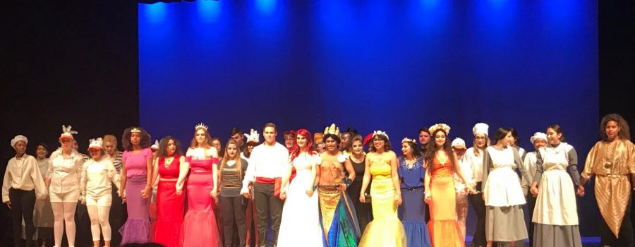 The cast of The Little Mermaid play at Independence High School.