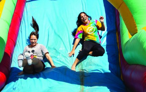 Bakersfield College students took part in an obstacle course during Welcome Week