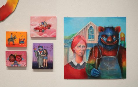 "Michelle Guerrero's ""Mr.Baby"" exhibit is on display at the Bakersfield College Library"