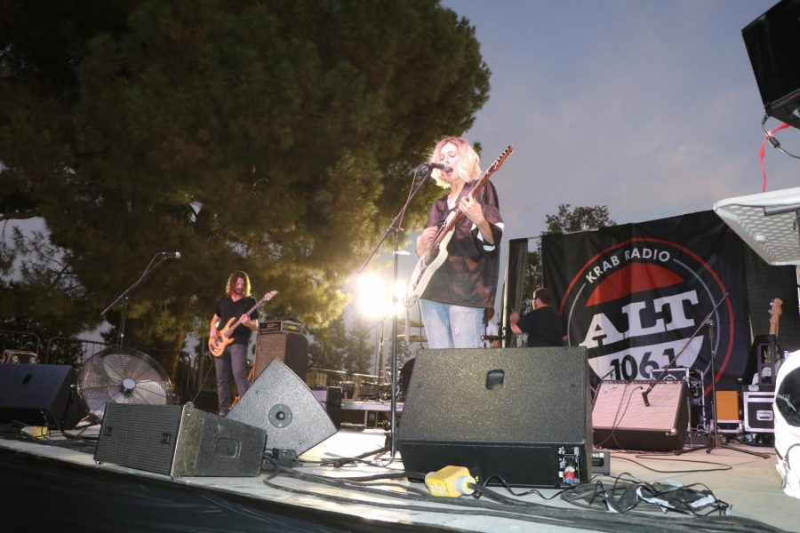 Slothrust, a rock band from Boston, plays during the 11th Annual KRAB Free-for-All.
