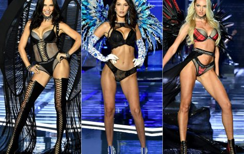 Current Victoria's Secret models walking on the runway.