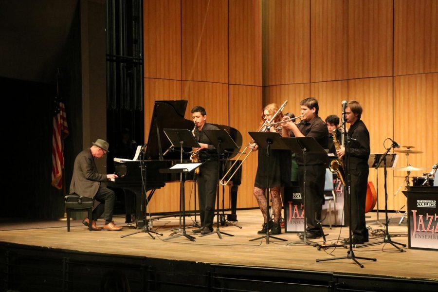 BC Jazz Ensemble with Wayne Horvitz (left) on the piano