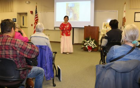 Speakers talk and perform as part of a series for Women's History Month