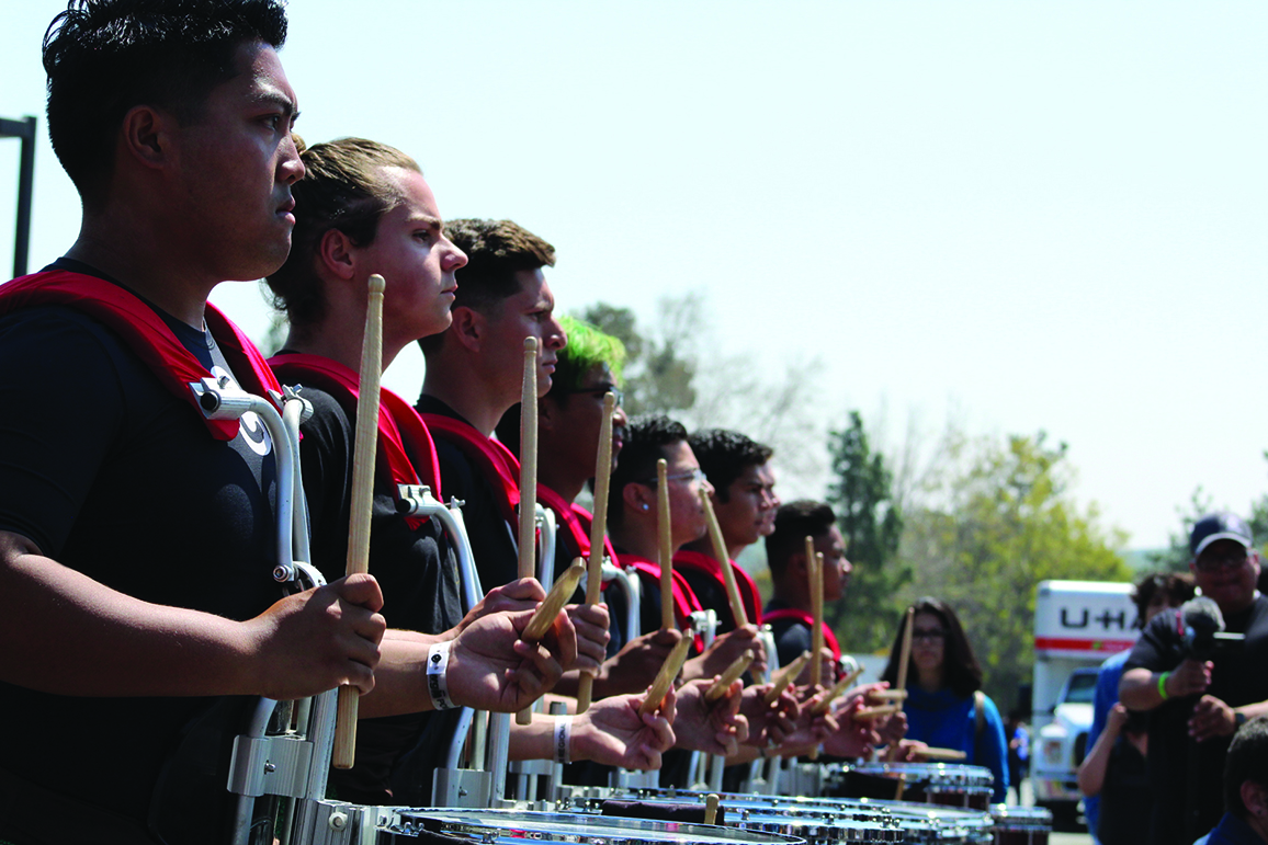 The Bakersfield College drum-line.