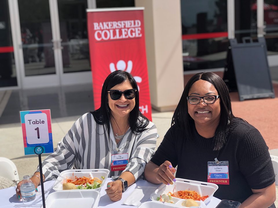 """Presenters Fay Sandoval and La'Stevia Dixon from Edison School District spoke about """"Teaching From the Heart"""" at the LETS Teach Conference workshop."""
