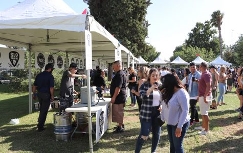 People waiting in line to have a chance to try their favorite beers, at the Bako Taco and Beer Fest at Stramler Park, Sept. 28.