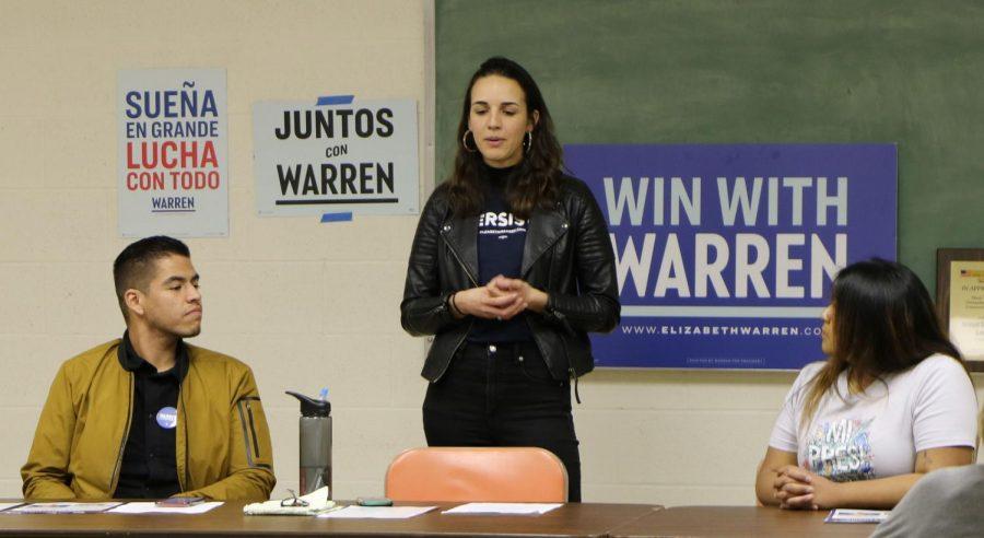 Warren's campaign team visits Bakersfield