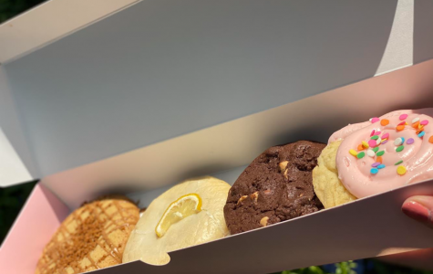 The cookies from Crumbl Cookies, located on Stockdale Highway has four specialty flavors: Warm Biscoff, Lemon Glaze, Reese's Peanut Butter Chip and Confetti Cake.