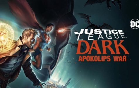 Official artwork for Justice League Dark: Apokolips War Featuring Darksied (top) Superman (middle) and John Constatine (bottom)